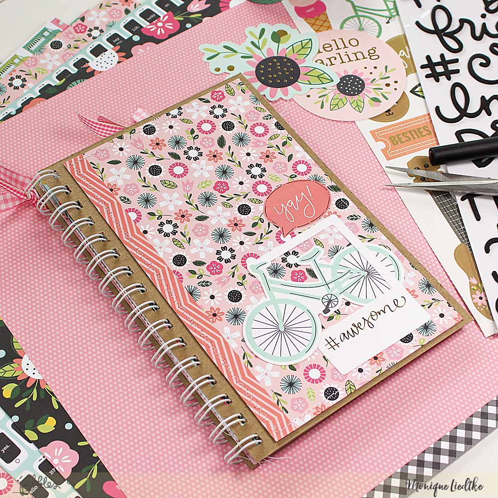 Funky Girl Squad Journal created by @moniqueliedtke with the #Girl_Squad_collection by @PebblesInc #madewithpebbles #pebblesinc #funky_girl_squad_journal #mini_album