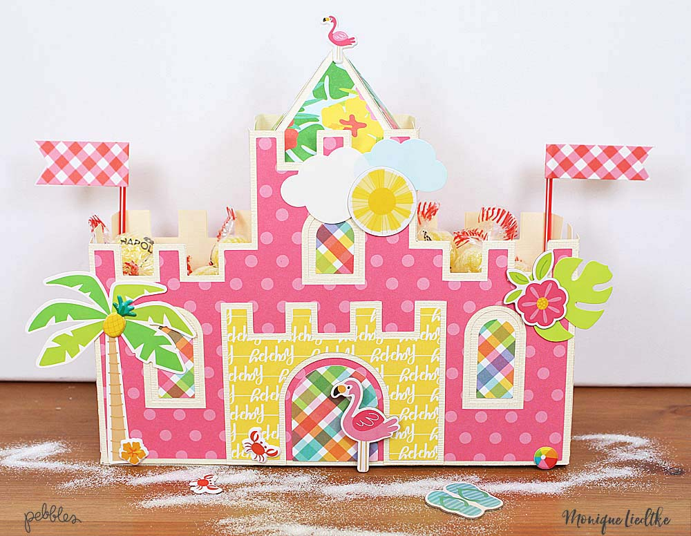 Sweet Summer Sand Castle created by @moniqueliedtke with the #Sunshiny_Days collection by @PebblesInc #madewithpebbles #pebblesinc #sweet_summer_sand_castle #sweets_sand_castle