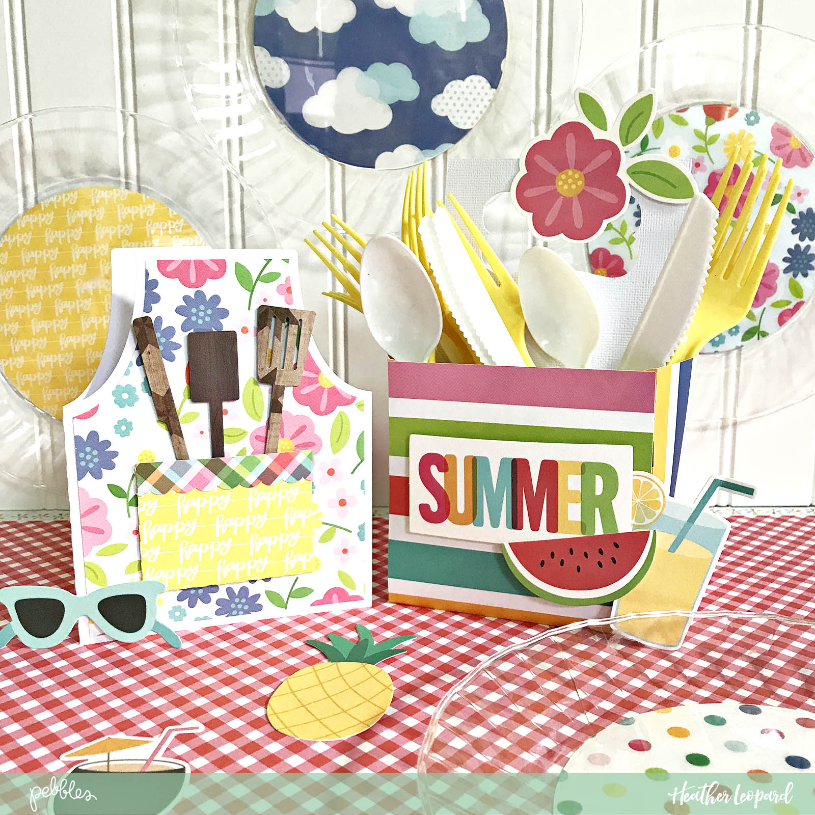 DIY Indoor Picnic by @heatherleopard using the #SunshinyDays collection by @pebblesinc
