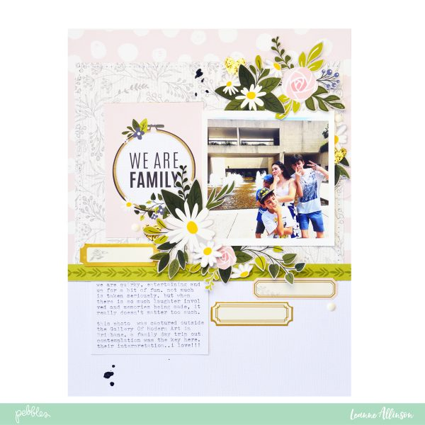 Create a @PebblesInc Heart of Home Layout using the rule of thirds as shared by @leanne_allinson.