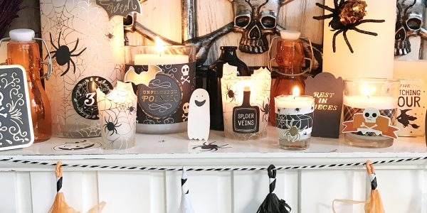 DIY Candle Decor using Midnight Haunting