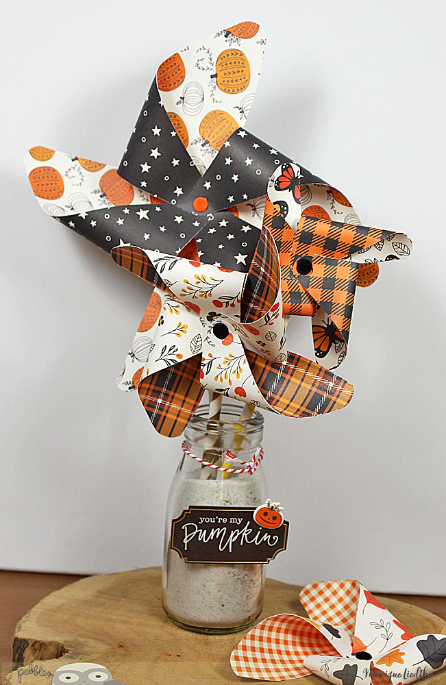 Pinwheels Bouquet by @moniqueliedtke with the #Midnight_Haunting_collection by @PebblesInc #madewithpebbles #pebblesinc