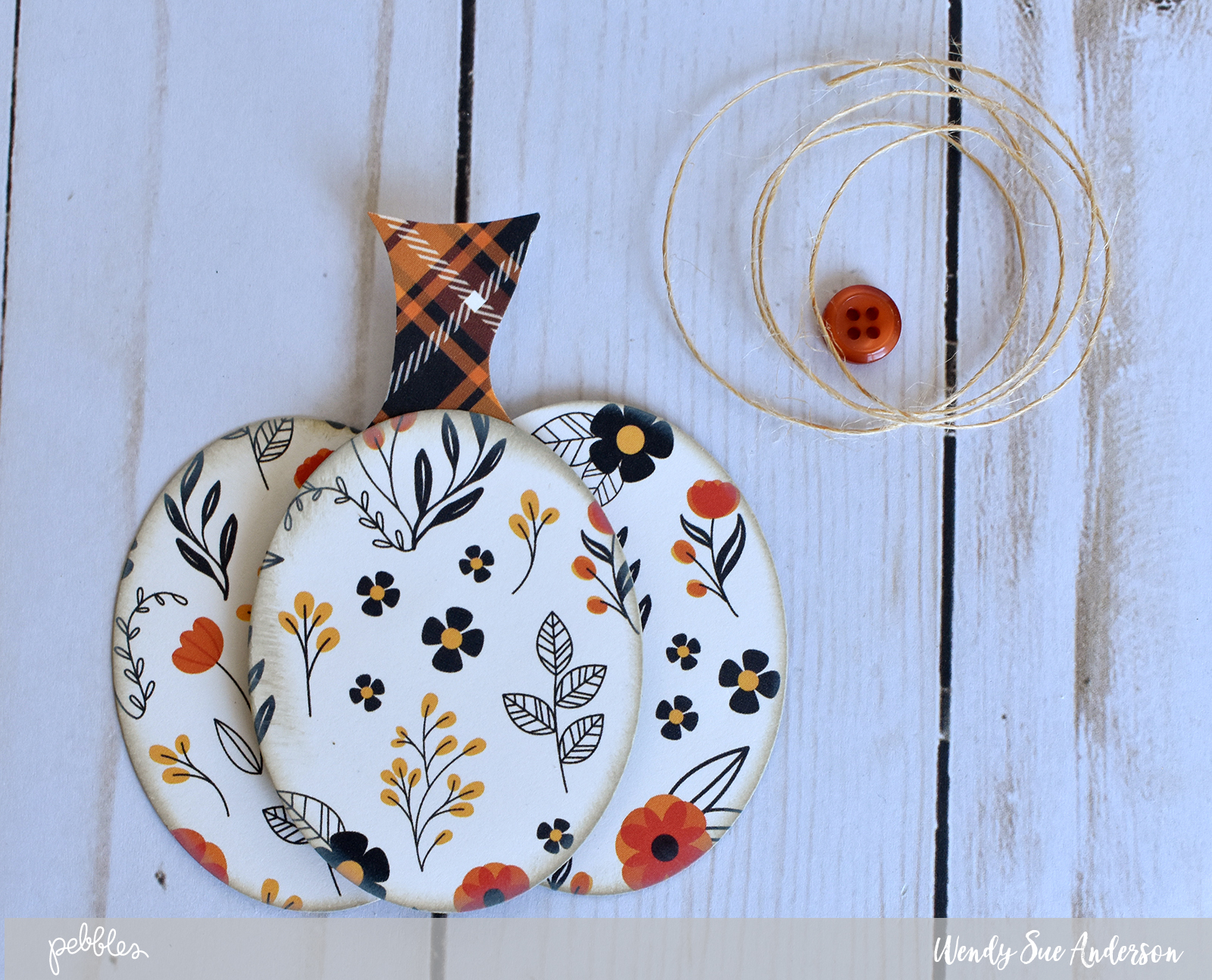 """Pumpkin layout by @WendySue with the """"Midnight Haunting"""" collection by @PebblesInc."""