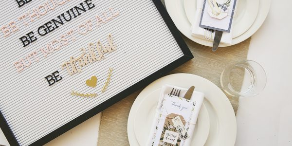 Thanksgiving Place setting by @evapizarrov using the #HeartOfHome collection by @pebblesinc #pebblesinc #madwithpebbles
