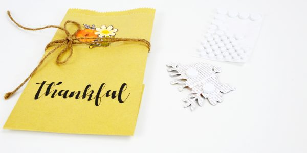 Set the table with paper bag Fall Decor