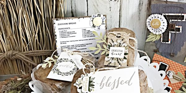 Thanksgiving Gift Idea and Recipe by @HeatherLeopard using @PebblesInc #HeartofHome collection #thanksgiving #ThanksgivingGift #madewithpebbles