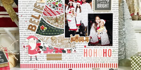 We Believe Christmas Traditions Scrapbooking Layout