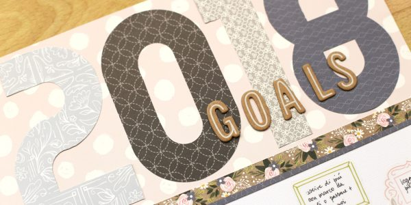 New Year's goals layout