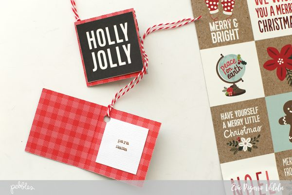 Create these Quick Christmas Tags in a few minutes using the new Merry Merry line from @pebblesinc and following this tutorial from @evapizarrov #pebblesinc #madewithpebbles