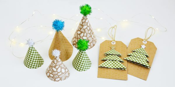 Have fun creating 3D Christmas tree Tags and Decor