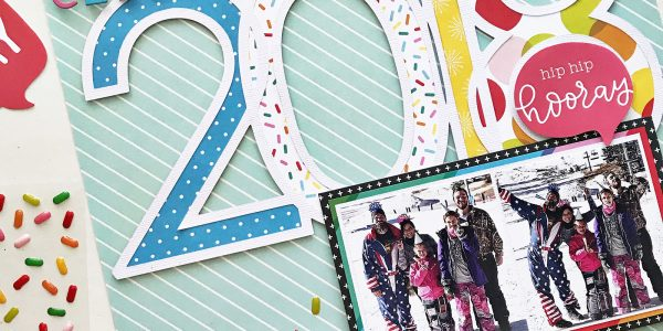 Celebrate 2018 Scrapbooking Layout and Cut File
