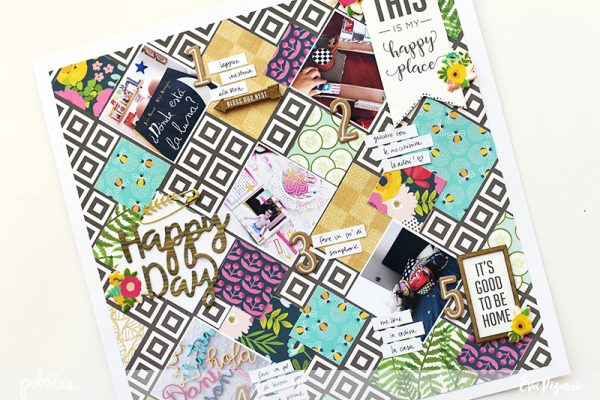 Create a Geometrical Layout showcasing your favorite patterned papers with this fun tutorial by @evapizarrov using @pebblesinc new line Patio Party #madewithpebbles #pebblesinc