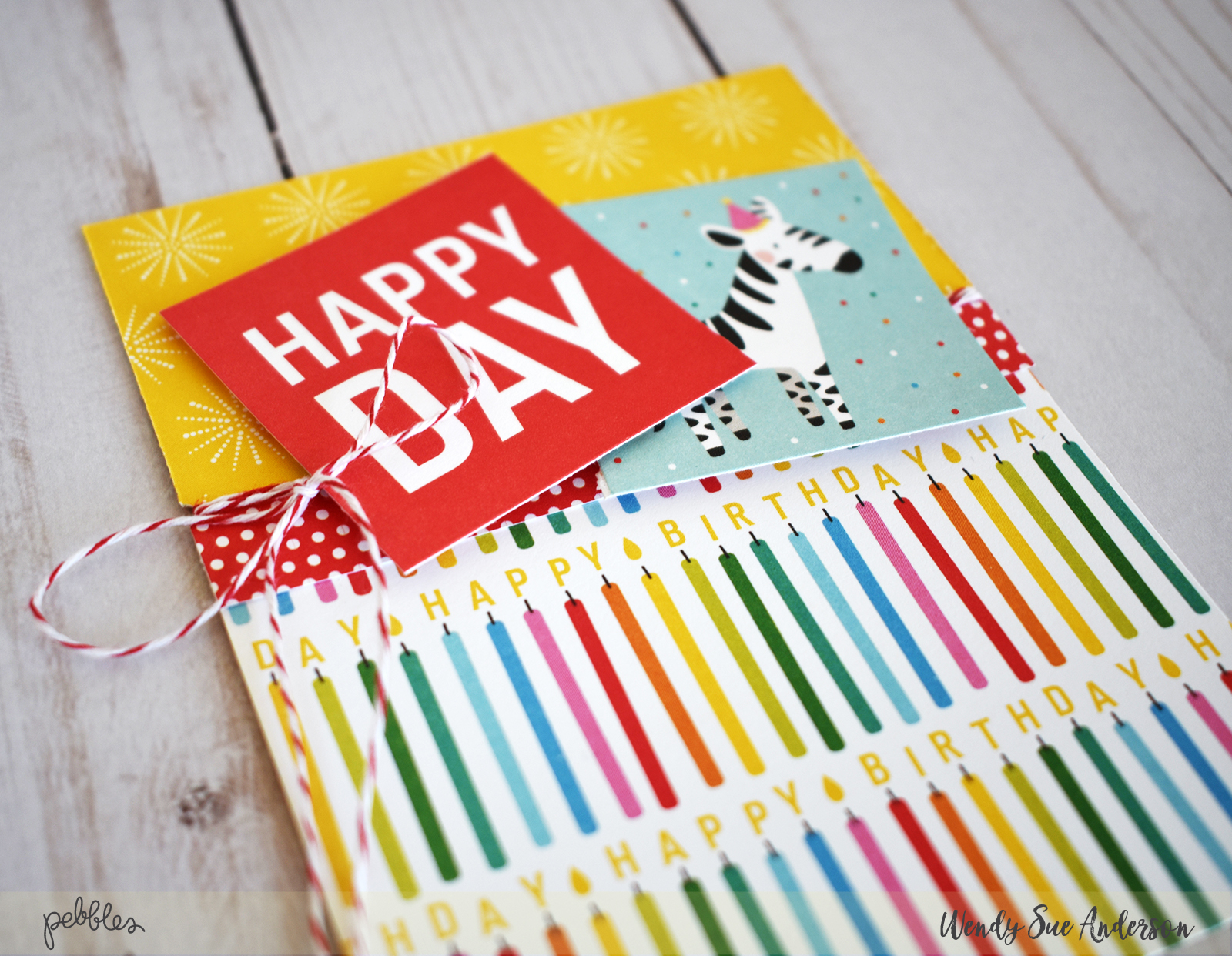 "Getting Started With Cardmaking Blog Post by @wendysue featuring the ""Happy Hooray"" collection from @PebblesInc."