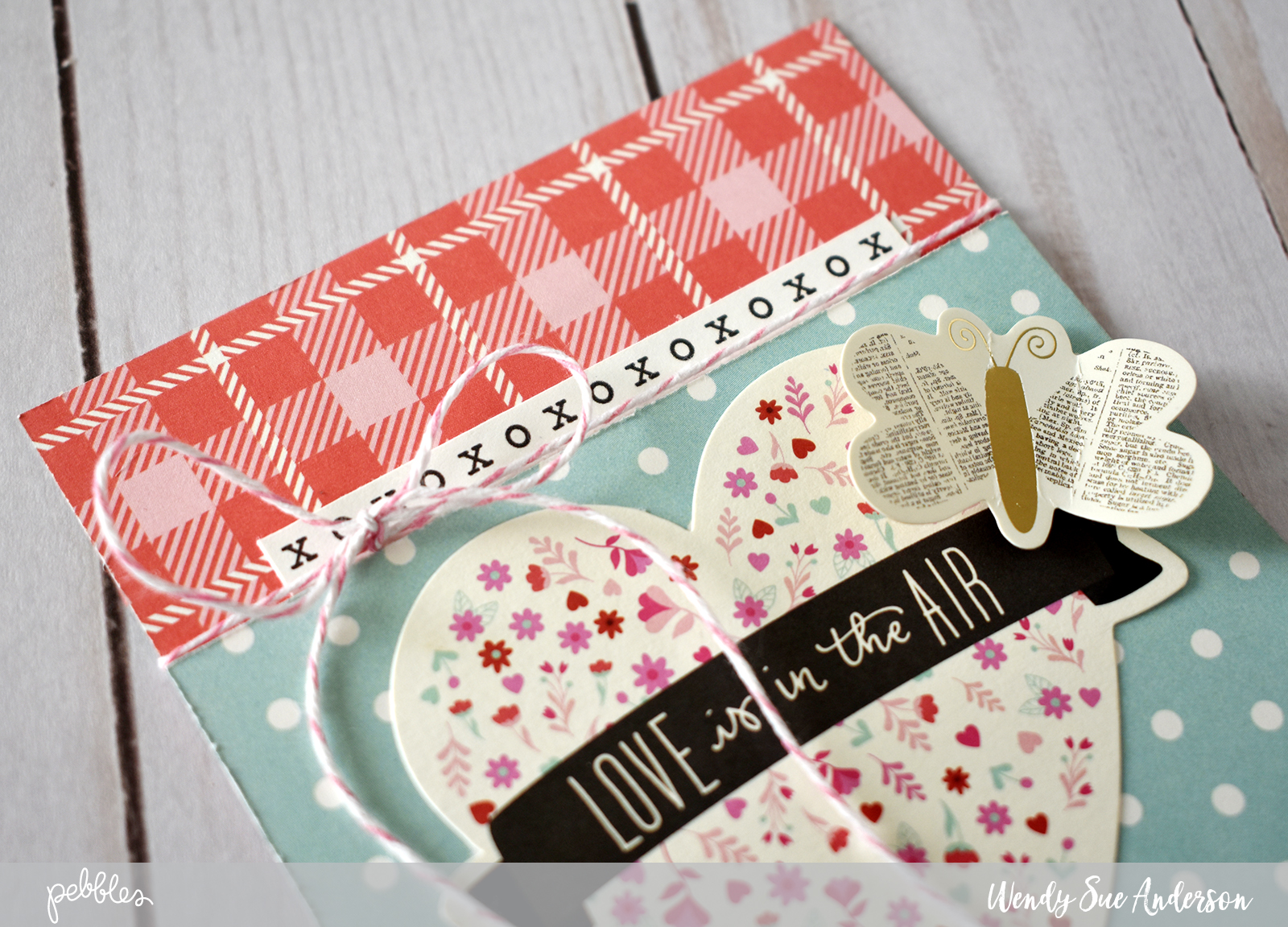 "Easy Valentine's Day cards by @WendySue with the ""Forever My Always"" Collection by @PebblesInc."