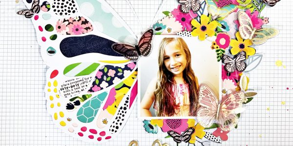 Hello darling butterfly scrapbooking layout and process video