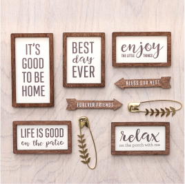 A new collection is here! Made from compressed wood, these darling stickers (paired with the decorative safety pins) from @tatertotsandjello and @pebblesinc are practically perfect for everything!