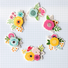 A new collection is here! Dimensional flowers from @pebblesinc and @tatertotsandjello...does it get any better?