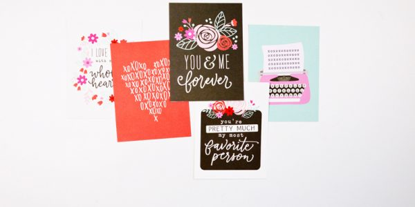 Create beautiful waterfall cards for Valentine's Day!