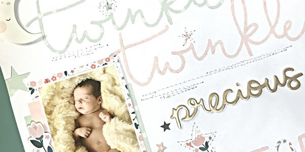 Baby Scrapbooking Layout | Night Night