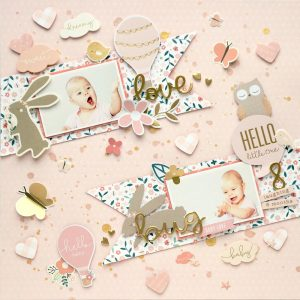 @moriony is a guest on the Pebbles Blog today...and we can't get enough! Be sure to check out her beautiful pages including a sweet Love Bug and more!