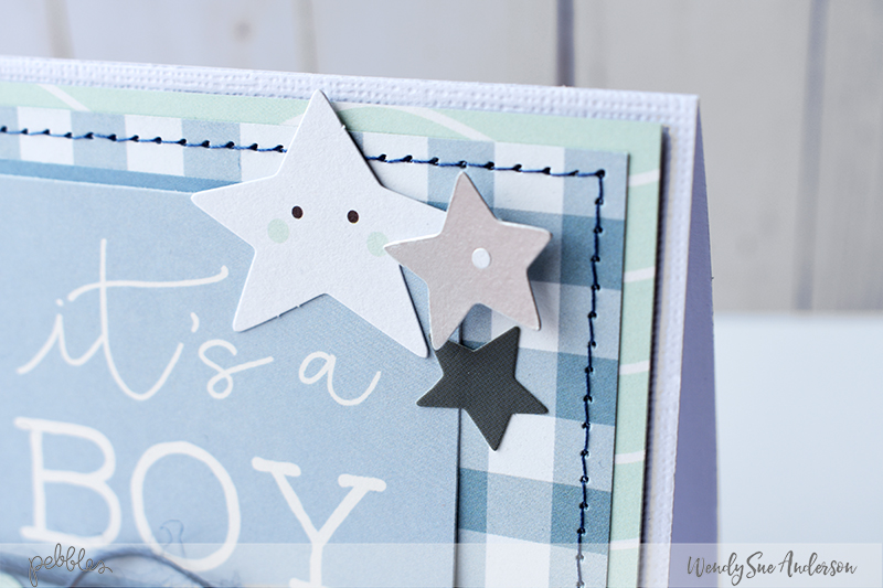 "Welcome New Puppy Cards by @WendySueA with the ""Night Night"" Collections from @PebblesInc."