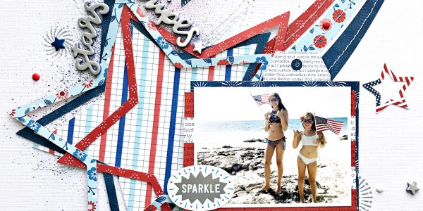 Stars and Stripes Scrapbooking Layout
