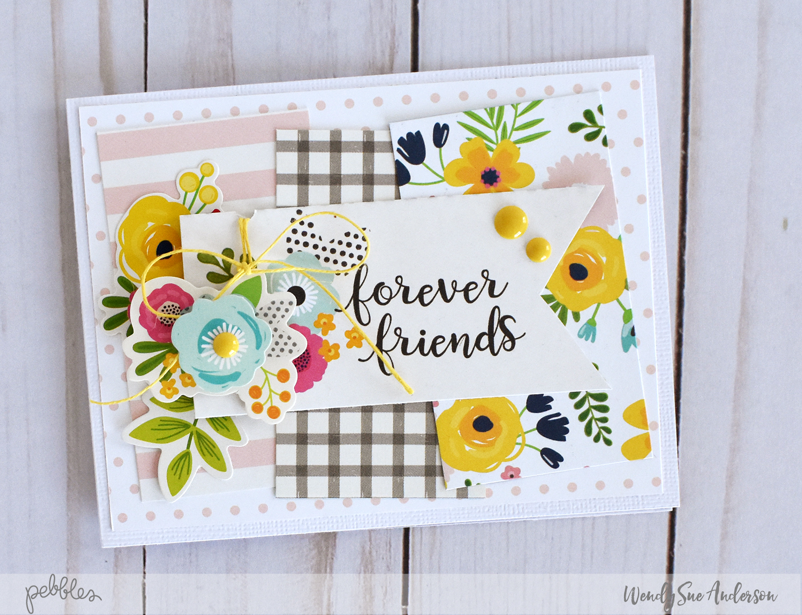 "Quick and Easy Pretty Flower Cards by @WendySue with the ""Patio Party"" collection for @PebblesInc."
