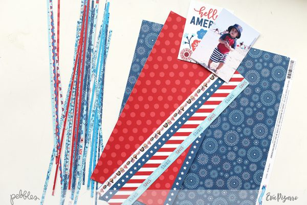 Get ready to acrsp your 4th of July memories with this fun tutorial from @evapizarrov using @pebblesinc new collection Land that I Love
