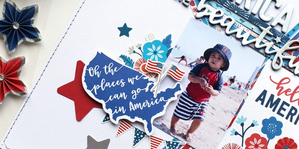 How do YOU do 4th of July in your Scrapbooks? Eva has an idea for you!