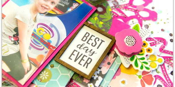 Stitching on a Scrapbook Layout with Terhi