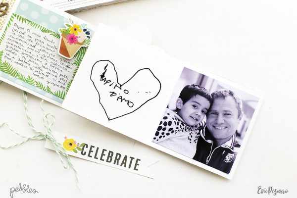 Make a quick and easy Father's Day Accordion Mini Album with this tutorial from @evapizarrov using the new Patio Party collection by @pebblesinc