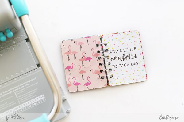 Create a quick Summer Mini Album in minutes with this tutorial from @evapizarrov using @pebblesinc new line #PatioParty #madewithpebbles #pebblesinc