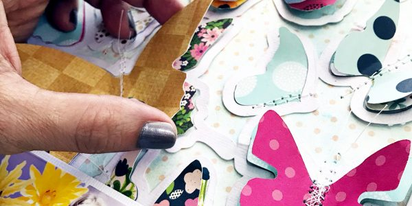Time Saver Tips | Butterflies Scrapbooking Layout
