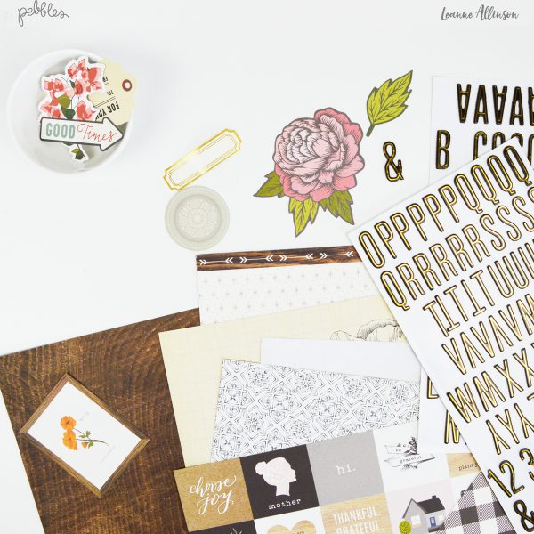 Create a Best Friends layout with a twist using @PebblesInc Heart of Home collection.