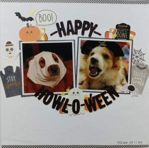@karlader is with us today on the Pebbles blog, sharing some fun layouts using Spooky Boo!