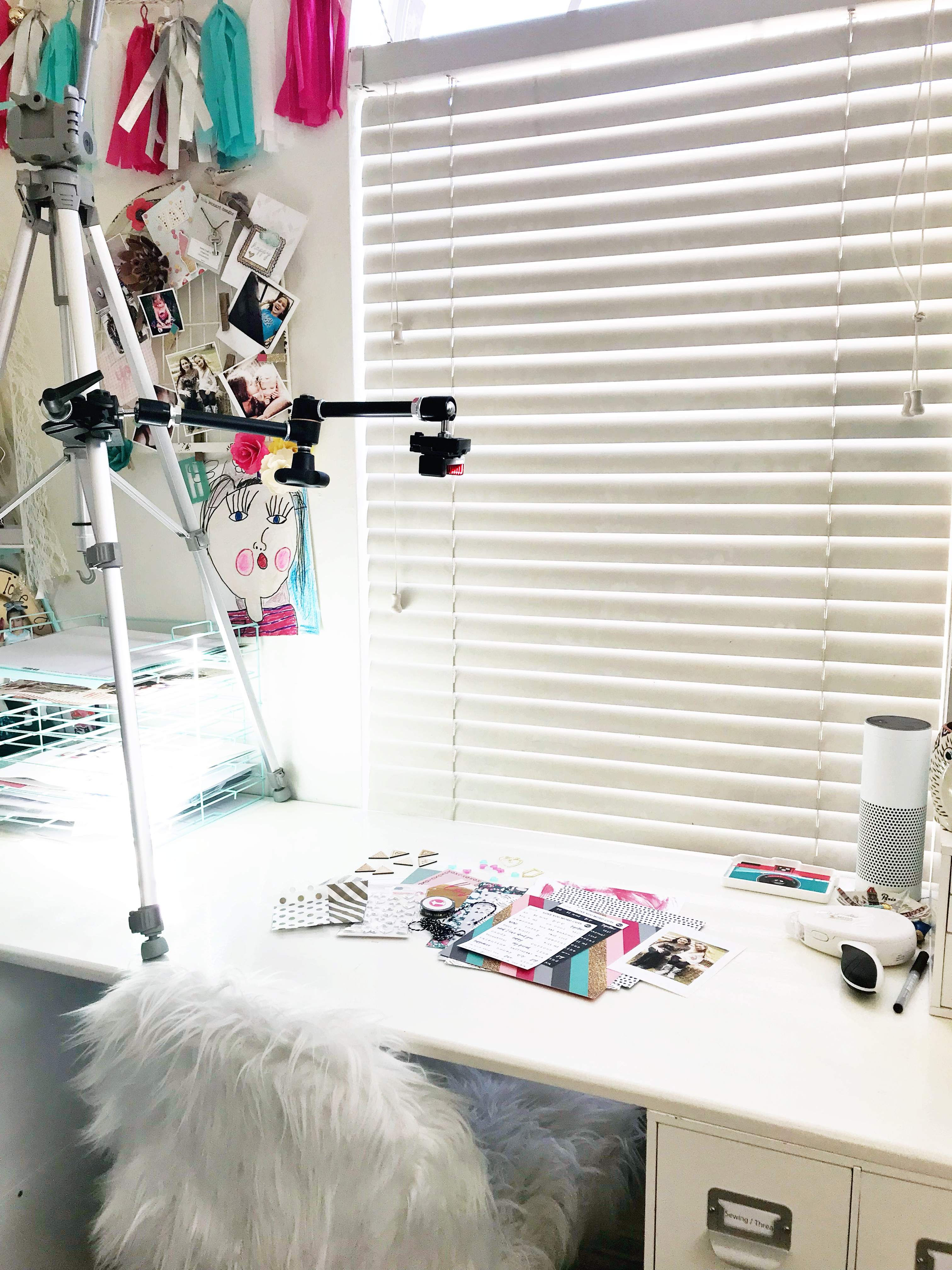 Heather Leopard Craft Room Tour Video Setup #craftroom