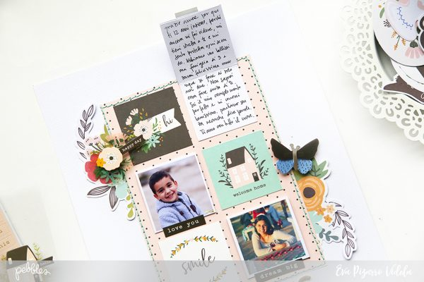 Create a quick and easy layout in minutes following this tutorial from @evapizarrov using the new @pebblesinc line AlongTheWay