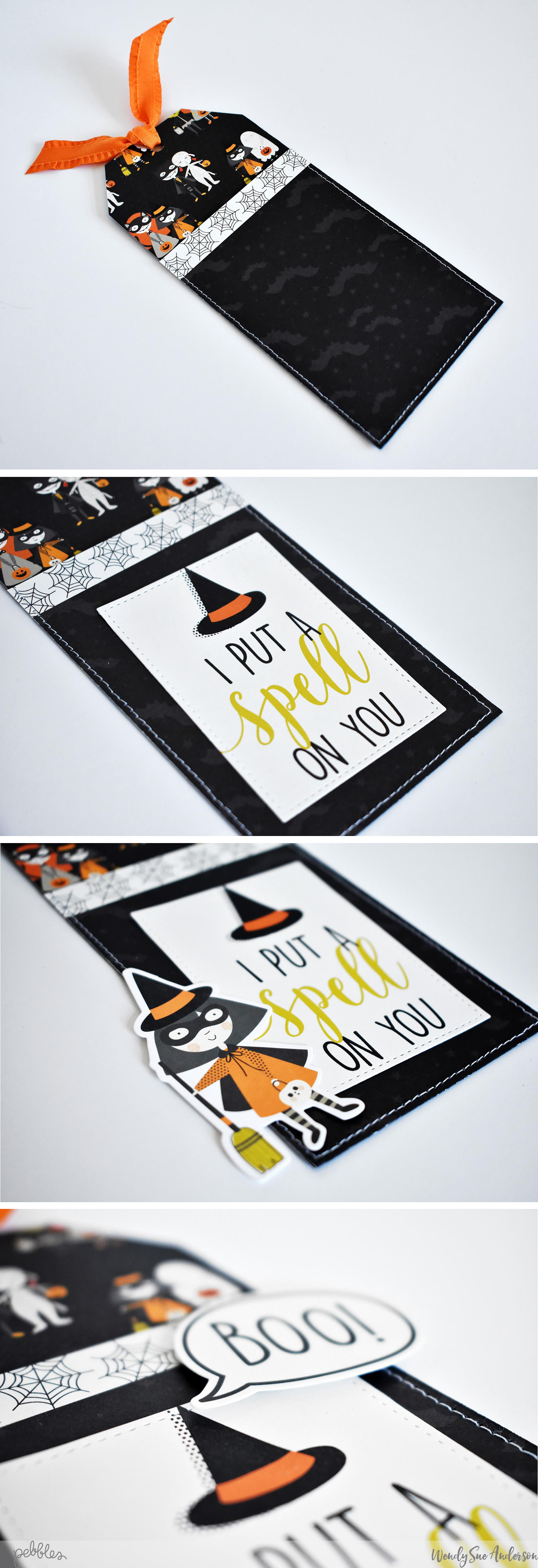 "Halloween Pocket Treat Tags by Wendy Sue Anderson by Wendy Sue Anderson featuring the ""Spooky Boo!"" Collection by @PebblesInc."