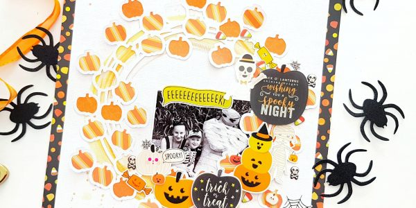 Trick Or Treat Pumpkins Layout with Amanda!