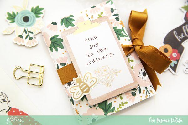 @evapizarrov teaches you how to make a cute Gratitude Journal using the new #AlongtheWay line from @pebblesinc #pebblesinc #madewithpebbles