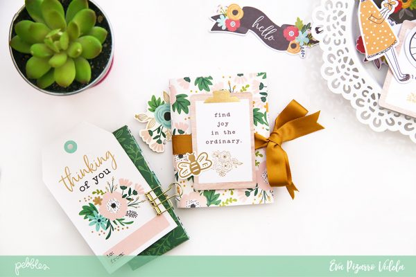 @evapizarrov teaches you how to make a cute Gratitude Journal using the new #AlongtheWay line from @pebblesinc #pebblesinc #madewithpebbles