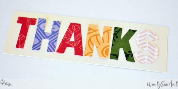 """Thank you card set by Wendy Sue Anderson featuring the """"Along The Way"""" collection by @PebblesInc."""
