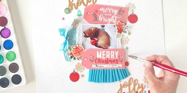 Holly Jolly Christmas Layout with Amanda!
