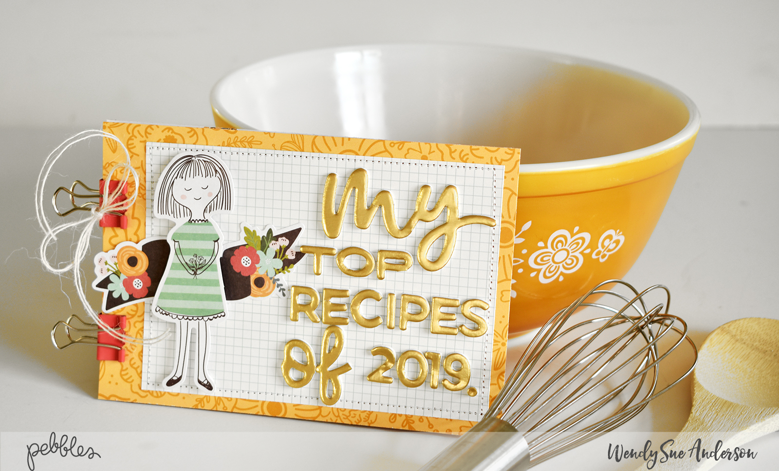 "New Year's Resolution Recipe Book by Wendy Sue Anderson featuring the ""Along the Way"" collection by @PebblesInc."