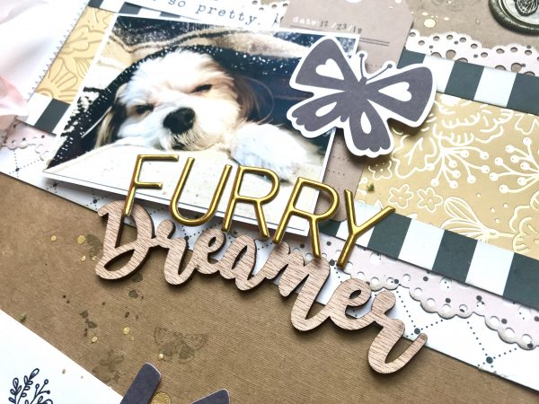 @scrappinhappy we love all the elements you added to this darling page featuring your fur baby! Thanks for being a guest at @pebblesinc!