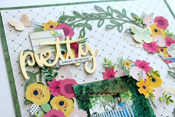 @mmgallant76 is up on the @pebblesinc blog today with a darling floral layout! Be sure to check out all the little details!!