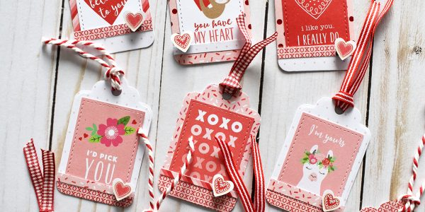 Quick and Easy Valentine Tags
