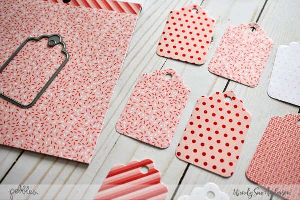 """Quick and Easy Valentine Tags by Wendy Sue Anderson featuring the """"Loves Me"""" Collection by @PebblesInc."""