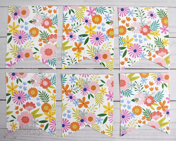 """Quick and Easy Summer Banner by Wendy Sue Anderson with the """"Oh Summertime"""" collection by @PebblesInc."""