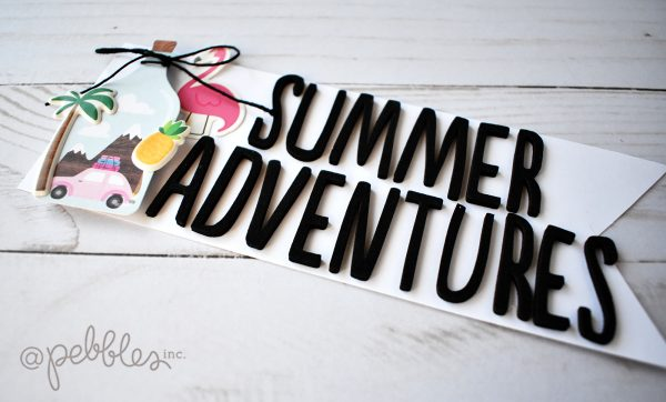 "Quick and Easy Summer Bucket List Project by Wendy Sue Anderson with the ""Chasing Adventures"" collection by @PebblesInc."